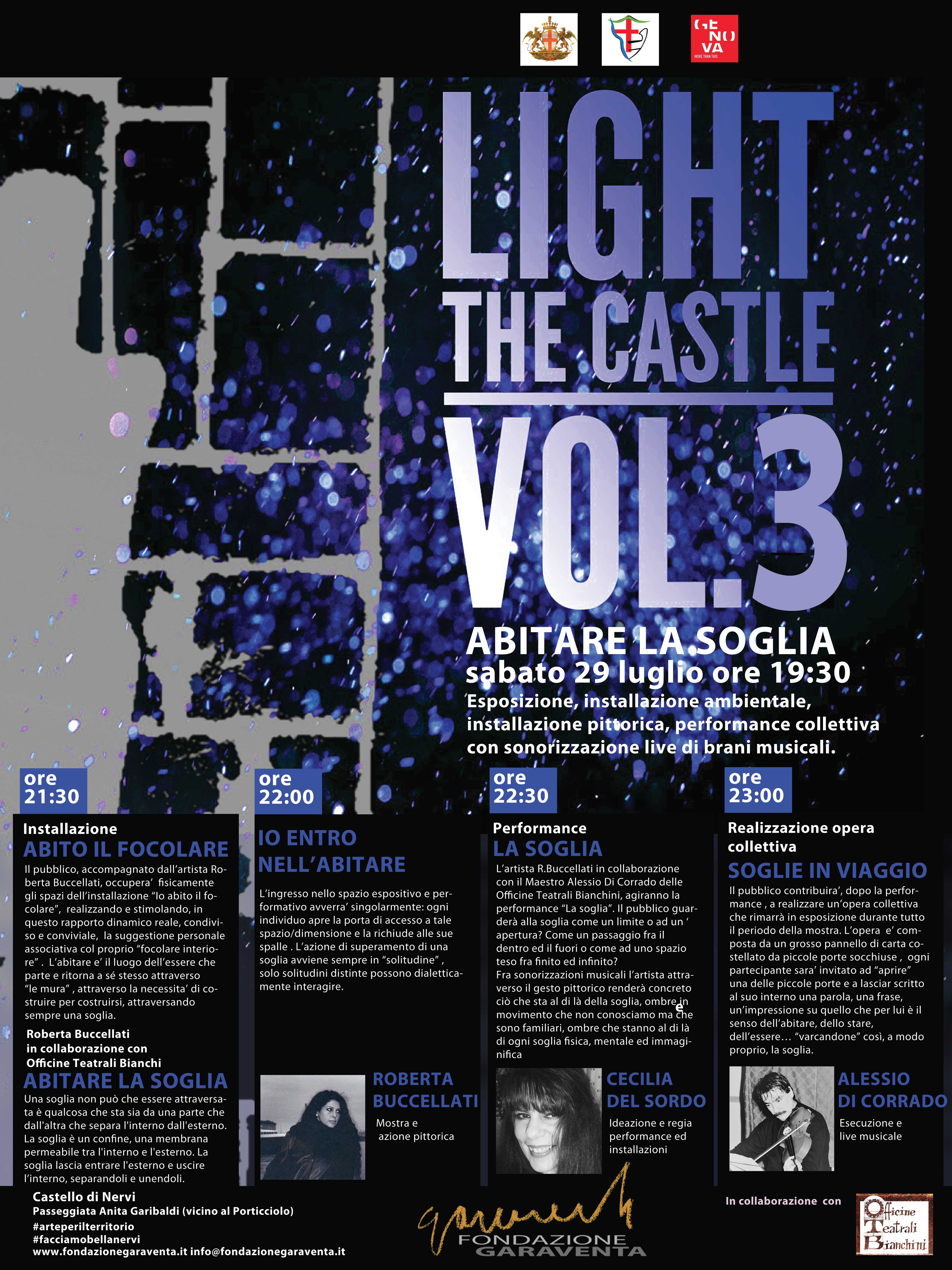 Abitare la soglia   LIGHT THE CASTLE vol.3